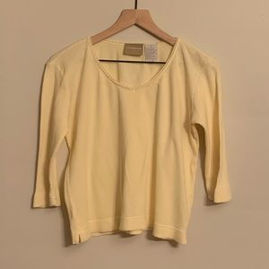 Vintage 1990s Liz Claiborne Rib-Knit Pullover
